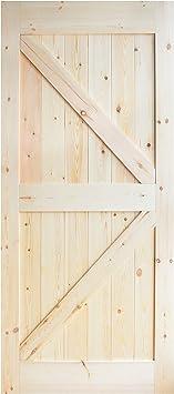 diyhd 36 in84 en pino con nudos puerta corrediza de granero madera ...