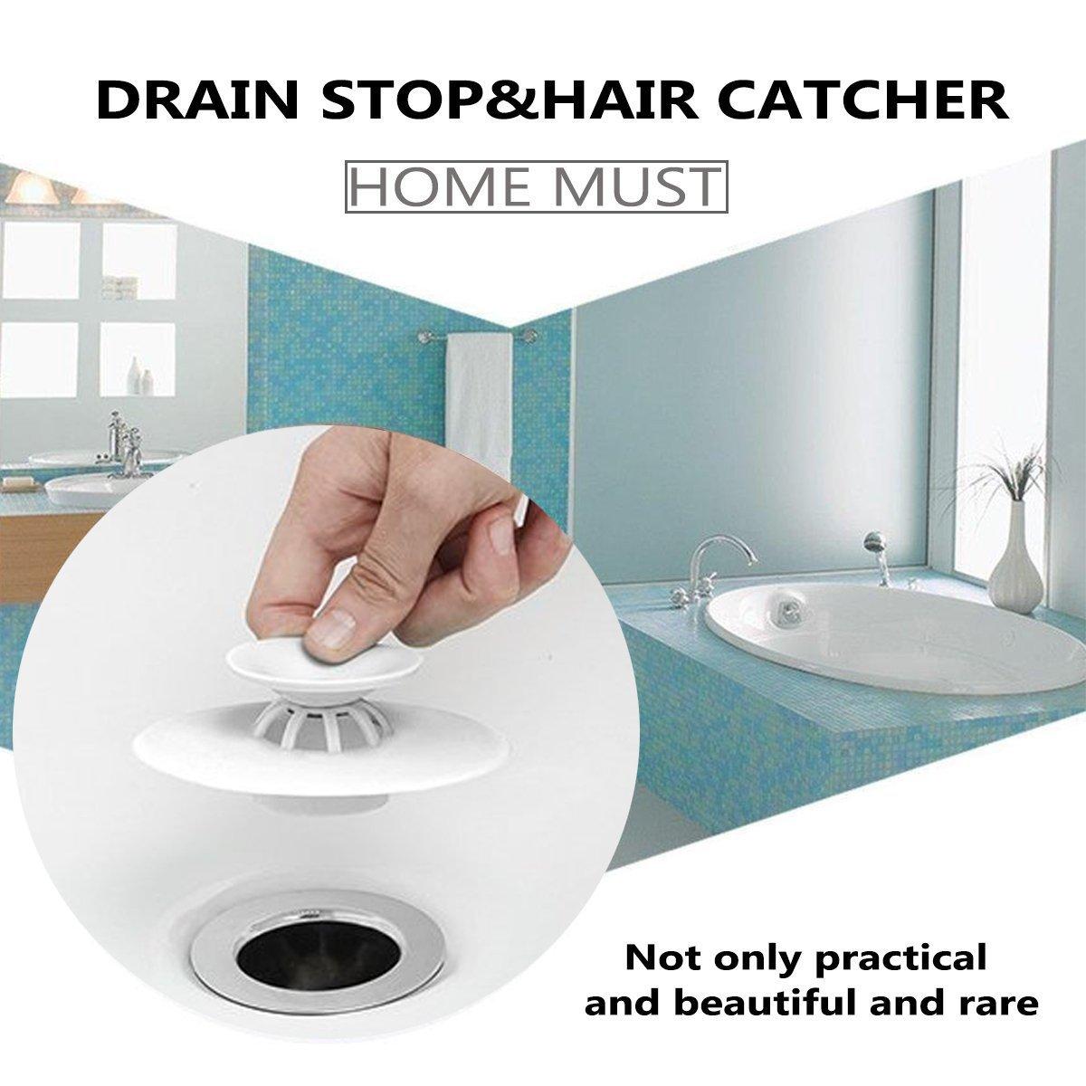 Amazon.com: ASANDH Drain Hair Catcher - Shower Drain Hair Trap, 2 in ...