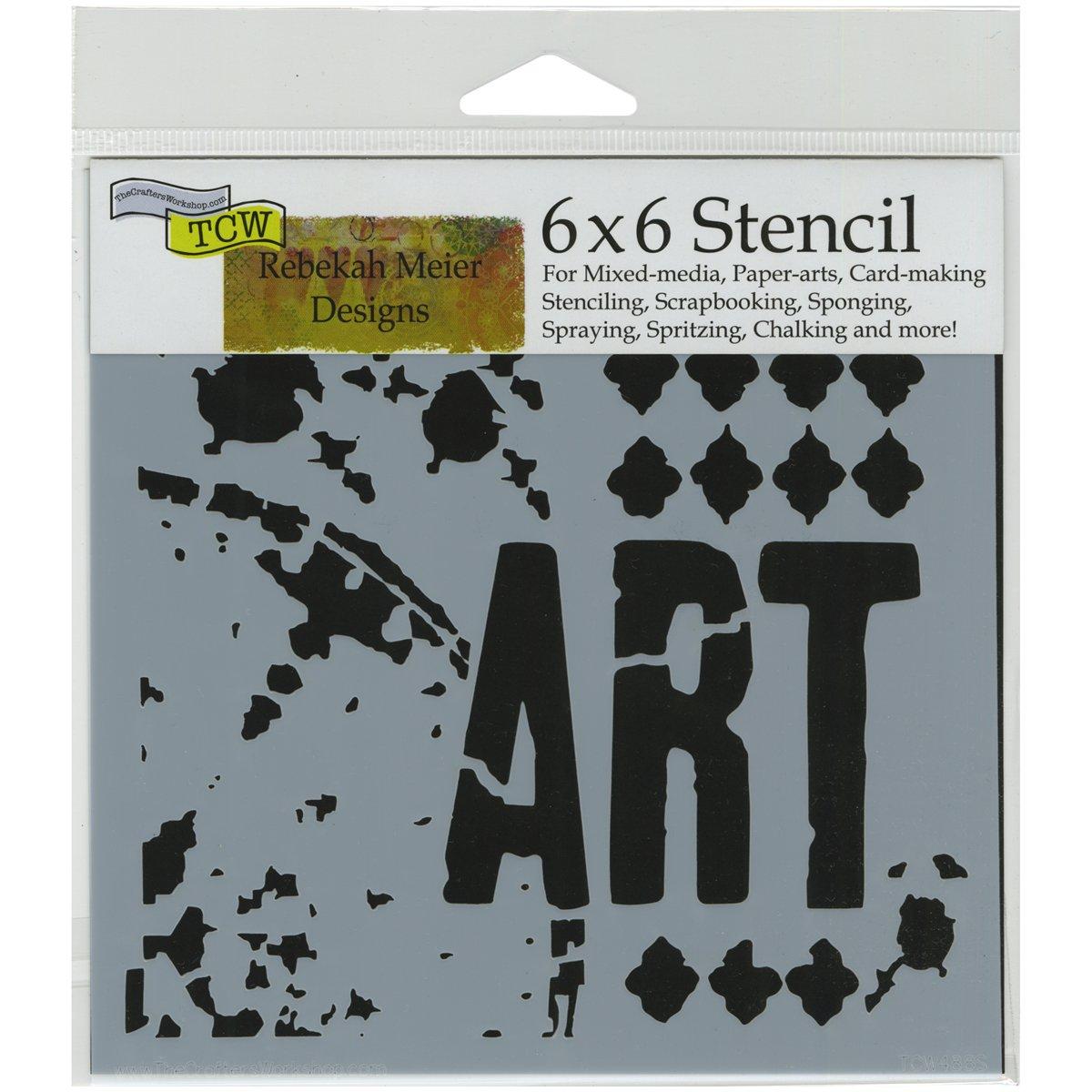 Crafters Workshop Plastic Template 6-inch x 6-inch Viva La Art TCW6X6-488