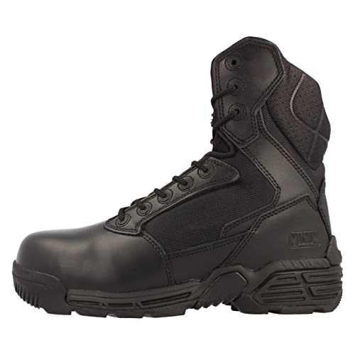 Hi-Tec Magnum Stealth Force 8.0 ct CP piel Botas de seguridad, color Negro