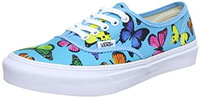 online retailer highly coveted range of elegant shape Vans AUTHENTIC SLIM Womens Size 10.5 Shoe BUTTERFLIES SCUBA BLUE Trainer