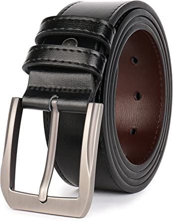 NEW MENS LEATHER LOOK BELT PERFECT FOR HIM GIFT JEANS TROUSERS SUIT SHORTS SMART