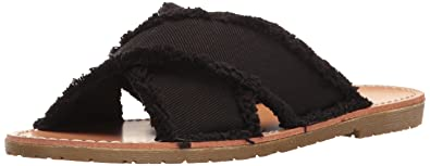 Dirty Laundry by Chinese Laundry Women's Empowered Slide Sandal, Black Twill,  ...