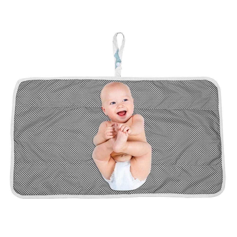 Black-1 Portable Nappy Change Mat,Aerobin Waterproof Foldable Diaper Changing Pad Infant Cotton Urinal Mat for Home Travel Outside