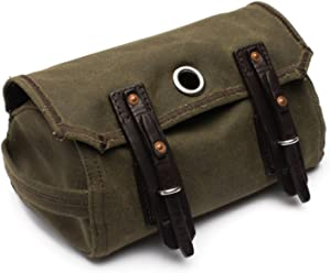 4204d4c409 Saddleback Leather Canvas Dopp Kit - Hanging Canvas and Leather Men s Toiletry  Bag - 100 Year