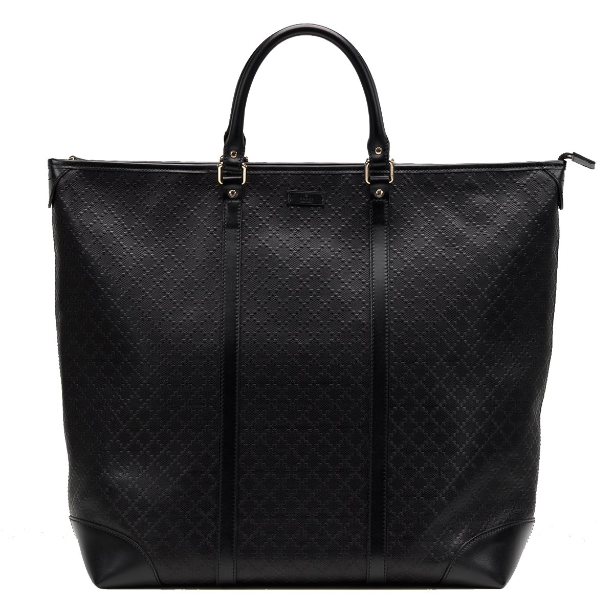 46100b2c5896 Gucci Diamante Leather Large Zip Top Unisex Tote Bag 308896, Black Model  Number: 308896AIZ1G1000 Black diamante pattern leather, unisex structured tote  bag