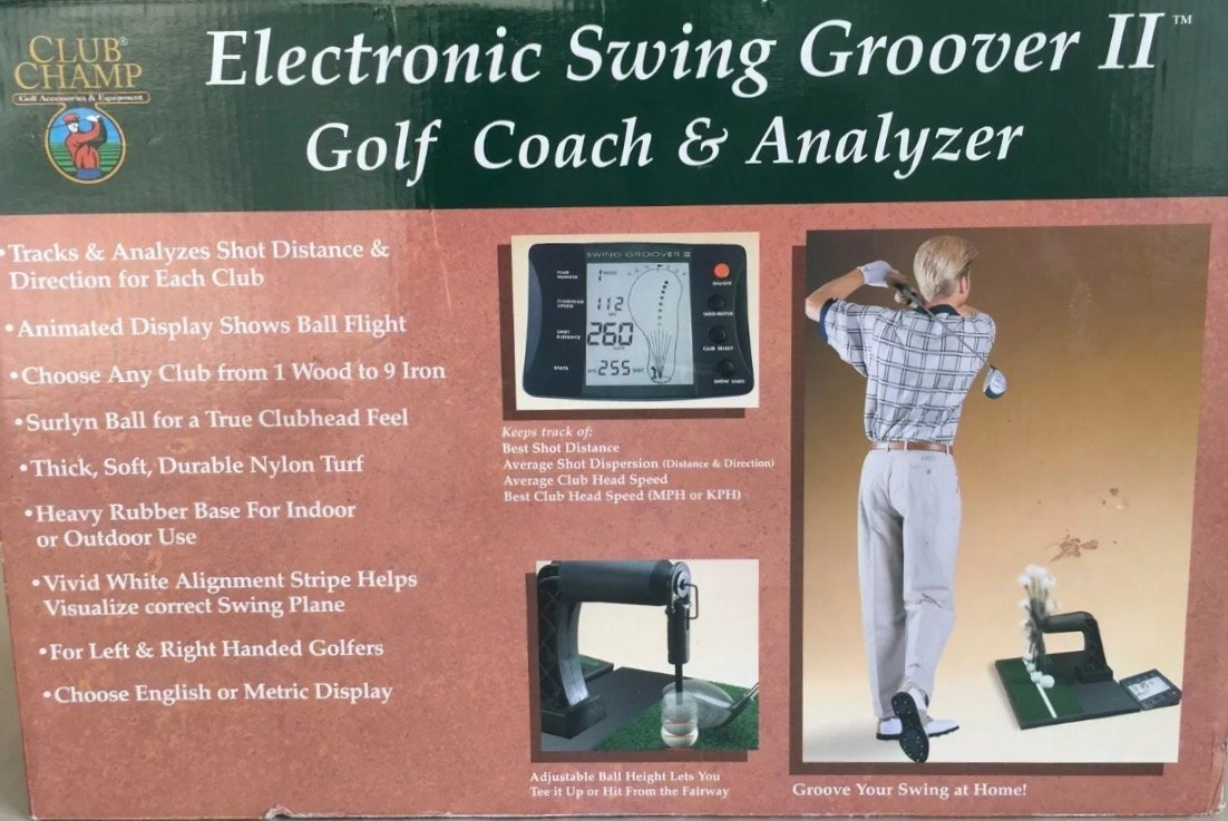 Amazon Dennco Club Champ Electronic Golf Swing Groover II Coach Analyzer Trainers Sports Outdoors