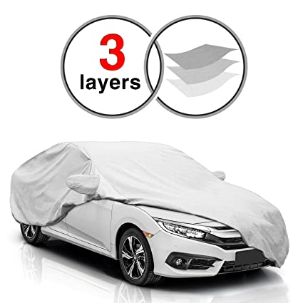 KAKIT 3 Layers Civic Car Cover For Honda Civic 2010 2017, All Weather  Waterproof