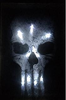 d43d5be6b9fb3c LED-Bild mit Beleuchtung LED- Bilder Leinwandbild 65 x 45 cm Leuchtbild  TOTENKOPF Wandbild