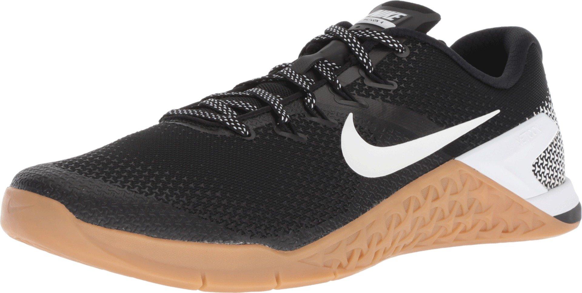 Nike Men's Metcon 4 Training Shoe Black/White-Gum MED Brown 7.0