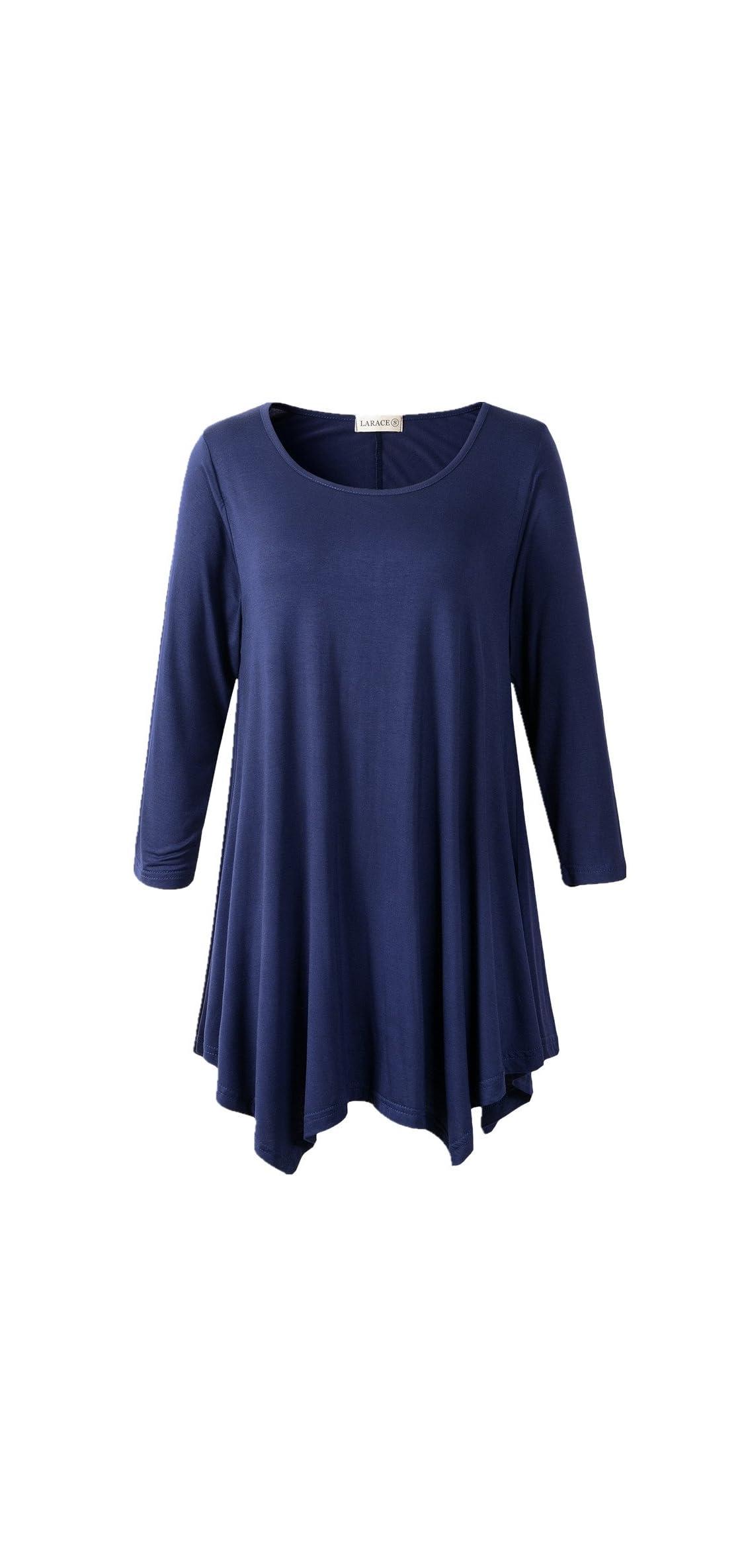 Women Plus Size / Sleeve Tunic Tops Loose Basic Shirt