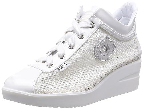9f53bb1b5124c AGILE BY RUCOLINE donna sneakers zeppa 226 A NEW TOP CHAMBERS 40 BIANCO   Amazon.it  Scarpe e borse