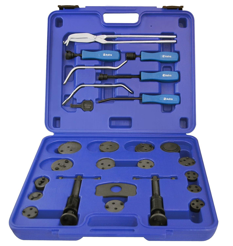Astro Pneumatic Tool Astro Pneumatic 78619 18pc Brake Caliper Wind Back Tool Set & 8pc Professional Brake Tool Set Astro Pneumatic Tool Company