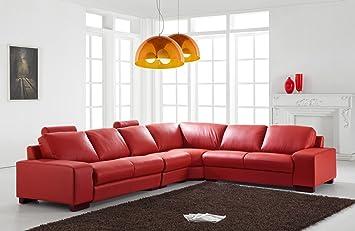 Design Voll Leder Ledergarnitur Ledersofa Ecksofa Sofa Garnitur