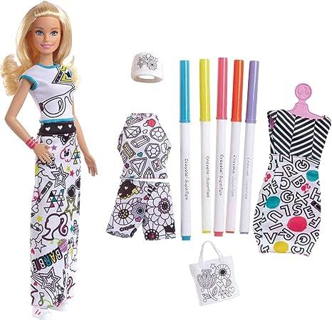 430f0d5cb1a Amazon.com  Barbie Crayola Color-in Fashions