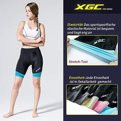 3D da donna Pantaloncini corti da ciclismo con slip elasticizzati con imbottitura in spugna
