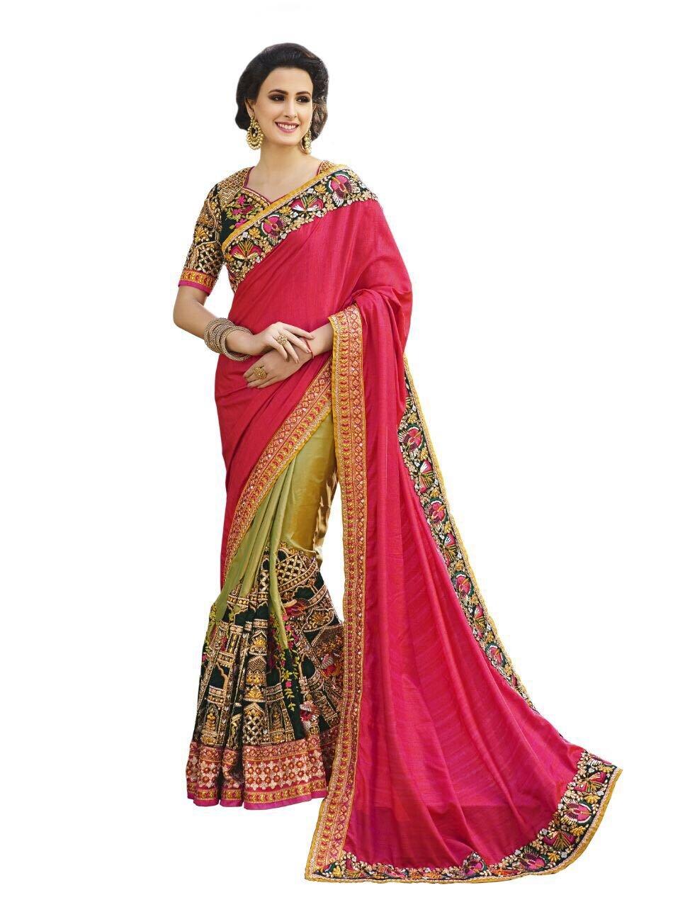 DurgaPuja Navratri Festival Heavy Saree Wedding Indian Sari Gown Muslim Women Dress Hijab Women Sare...