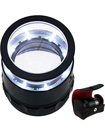 10x with 25mm with LED, Focused Eye Loupe Jewelry Magnifiers for Gems, Hobbies Antiques