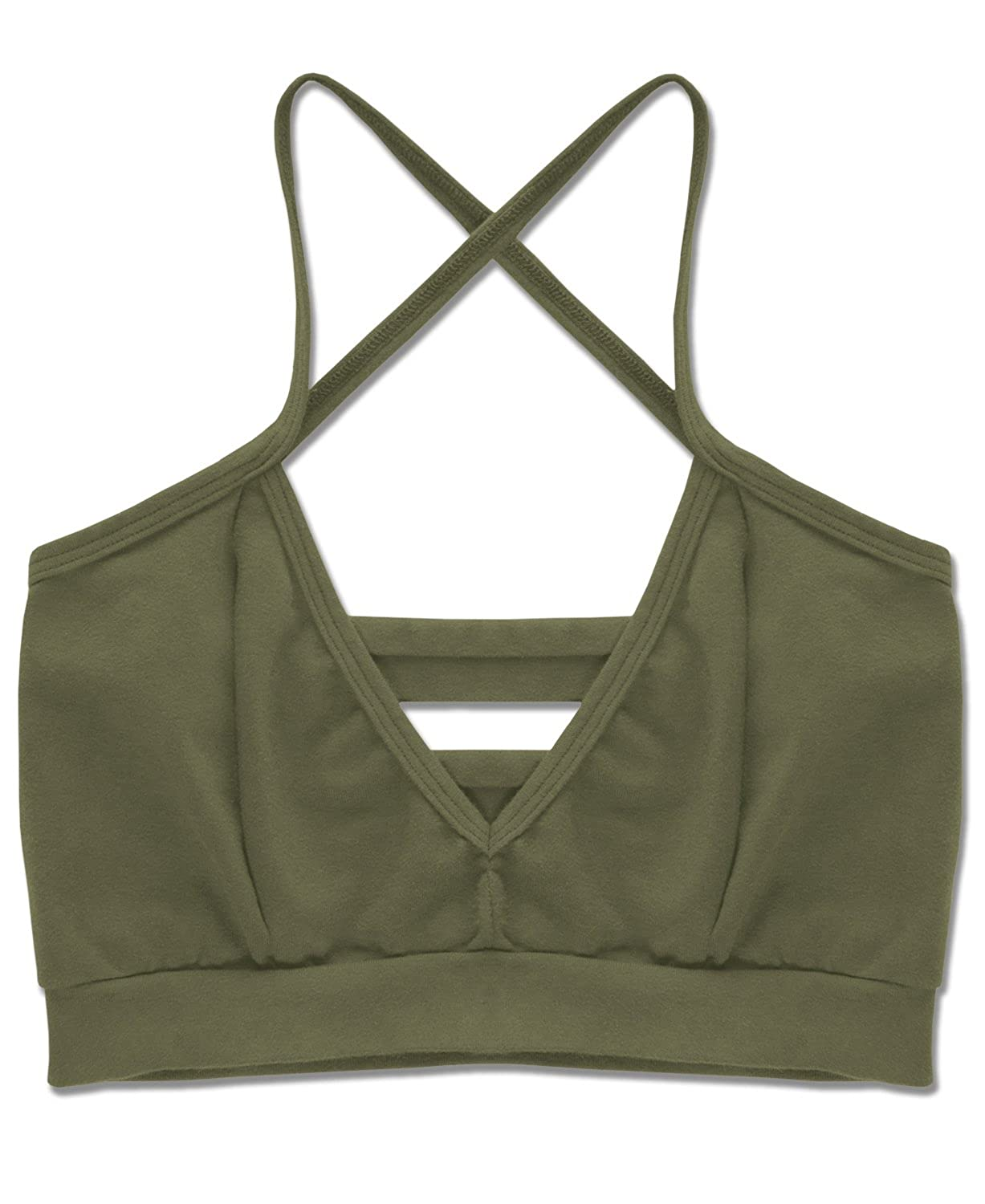 Soul Flower Women's Organic Cotton Strappy Bralette