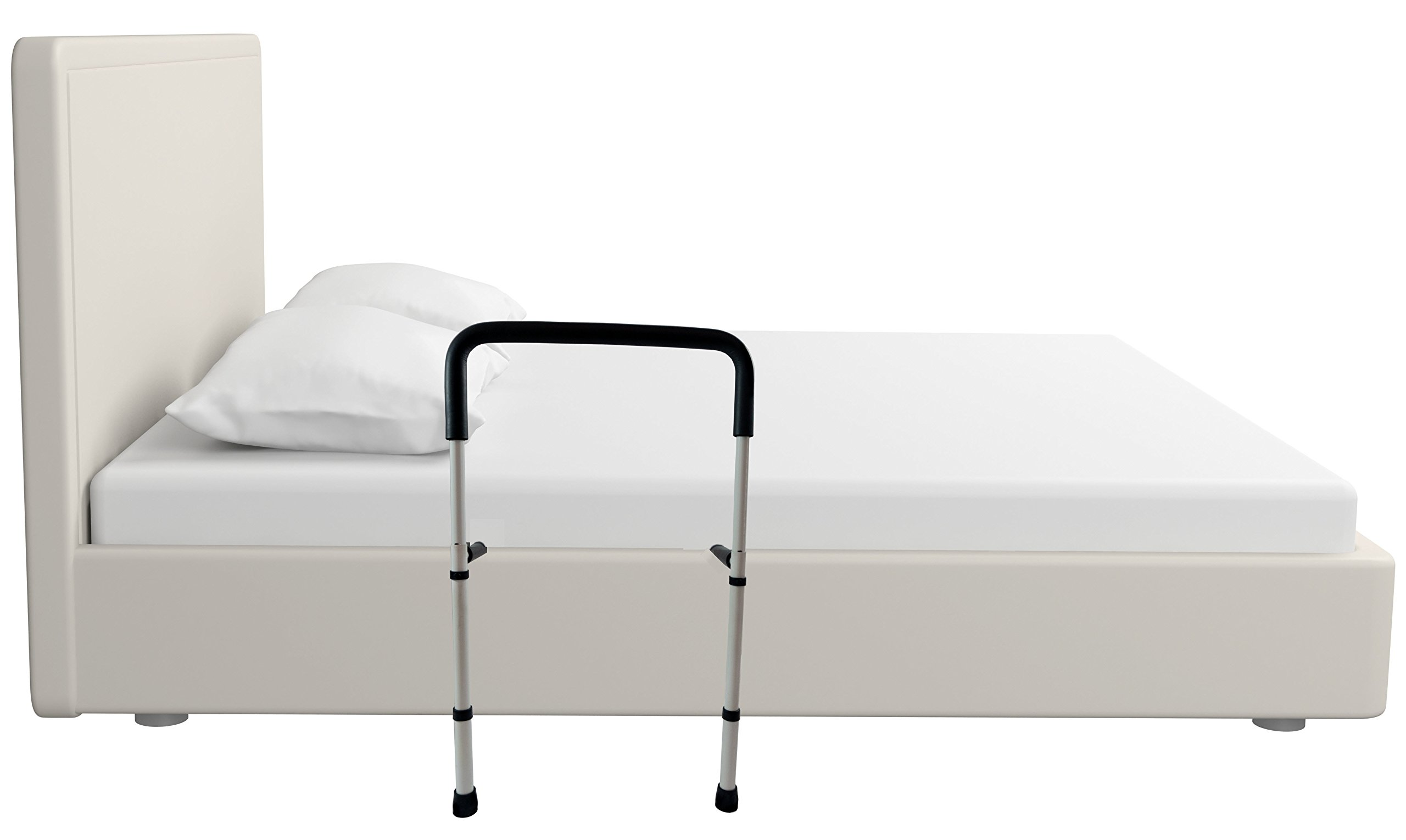 Bed Support Rail with Support Legs - Medical Bed Support Assist Grab Bar for Disabled, Elderly, Adults, and Children