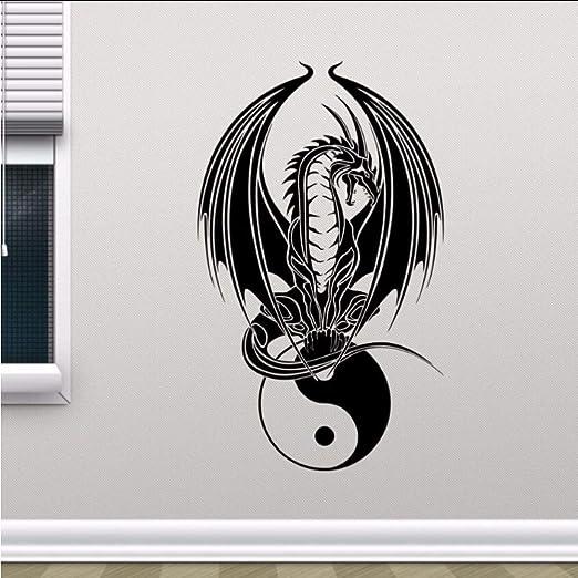jukunlun Dragon Yin Yang Tatuajes De Pared Dormitorio Arte De La ...