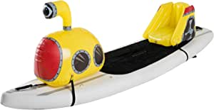 Stand Up Floats Inflatable Toy Submarine and seat Easily attaches to Any SUP Paddle Board with Removable Universal Harness, Yellow, Large