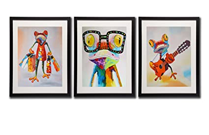 Top Amazon.com: Art Mr.& Mrs.Frog Happy Frog Wall Art Decor Posters  ZH17