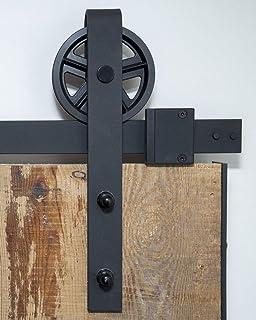 6.6FT Herraje para Puerta de Granero Carril de Acero carbono de puerta deslizante Divisores Puertas Interiores y Armarios de Pared: Amazon.es: Bricolaje y herramientas