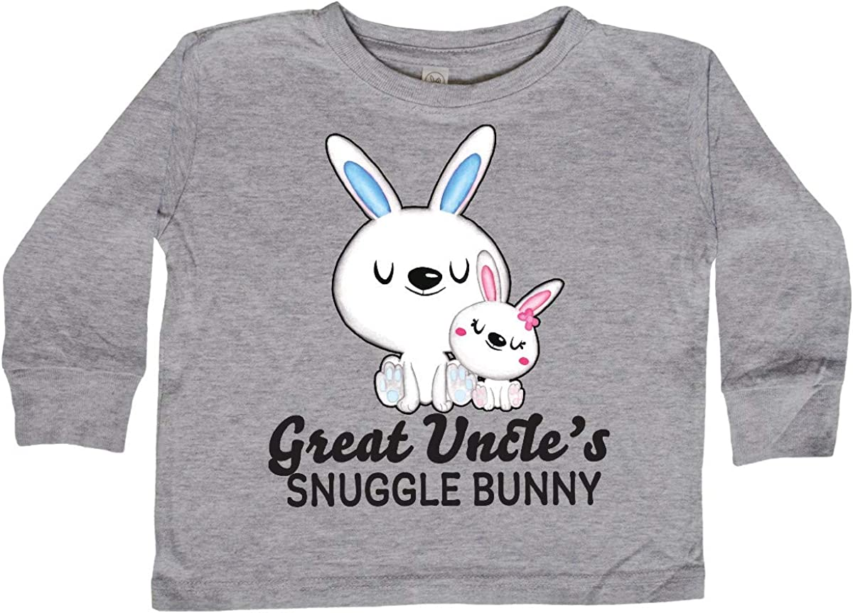 inktastic Great Uncles Snuggle Bunny Easter Toddler Long Sleeve T-Shirt