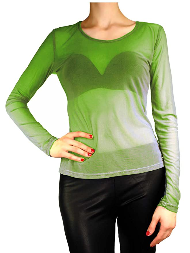 Tunique à manches longues En tulle transparent rétro Pour femme Taille S M L   Amazon.fr  Vêtements et accessoires 0111da0f1458