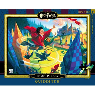 New York Puzzle Company - Harry Potter Quidditch - 1000 Piece Jigsaw Puzzle: Toys & Games