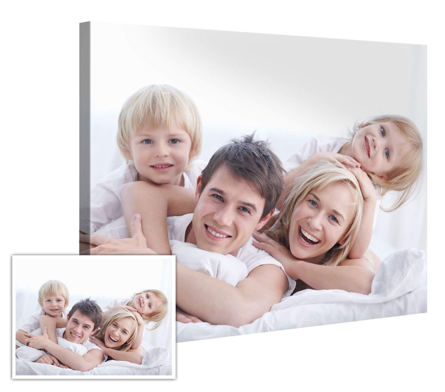 Custom Canvas Prints With Your Photos 48''x36'' - Customize With Your Own Picture and/or Text - 0.75'' Wooden Frame - Personalized Photo To Canvas Print Wall Art (Additional Sizes Available)