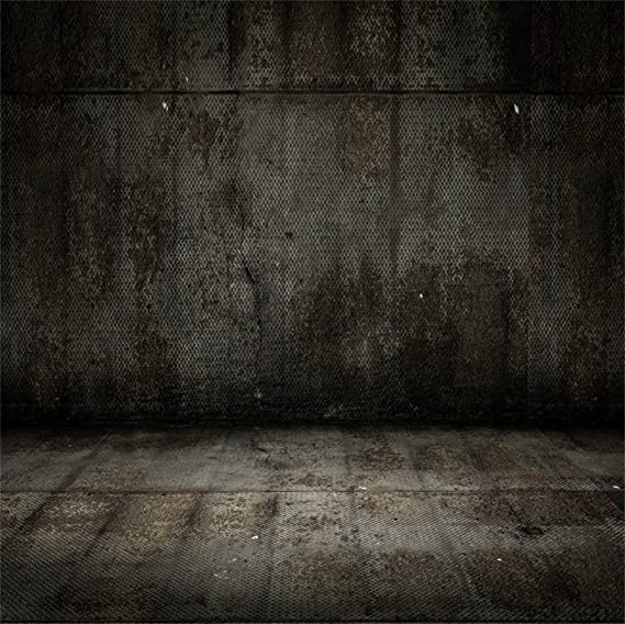 Vintage Concrete Wall Wooden Floor Backdrop 8x8ft Polyester Photography Background Abstract Grunge Wall Empty Interior Decor Backdrop