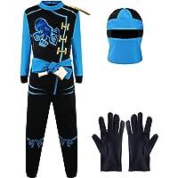 Katara-1771-09 Disfraz de Ninja para Combate, para niños, Color Azul-Jay Walker, Talla L (8-10 años) (1771-09)
