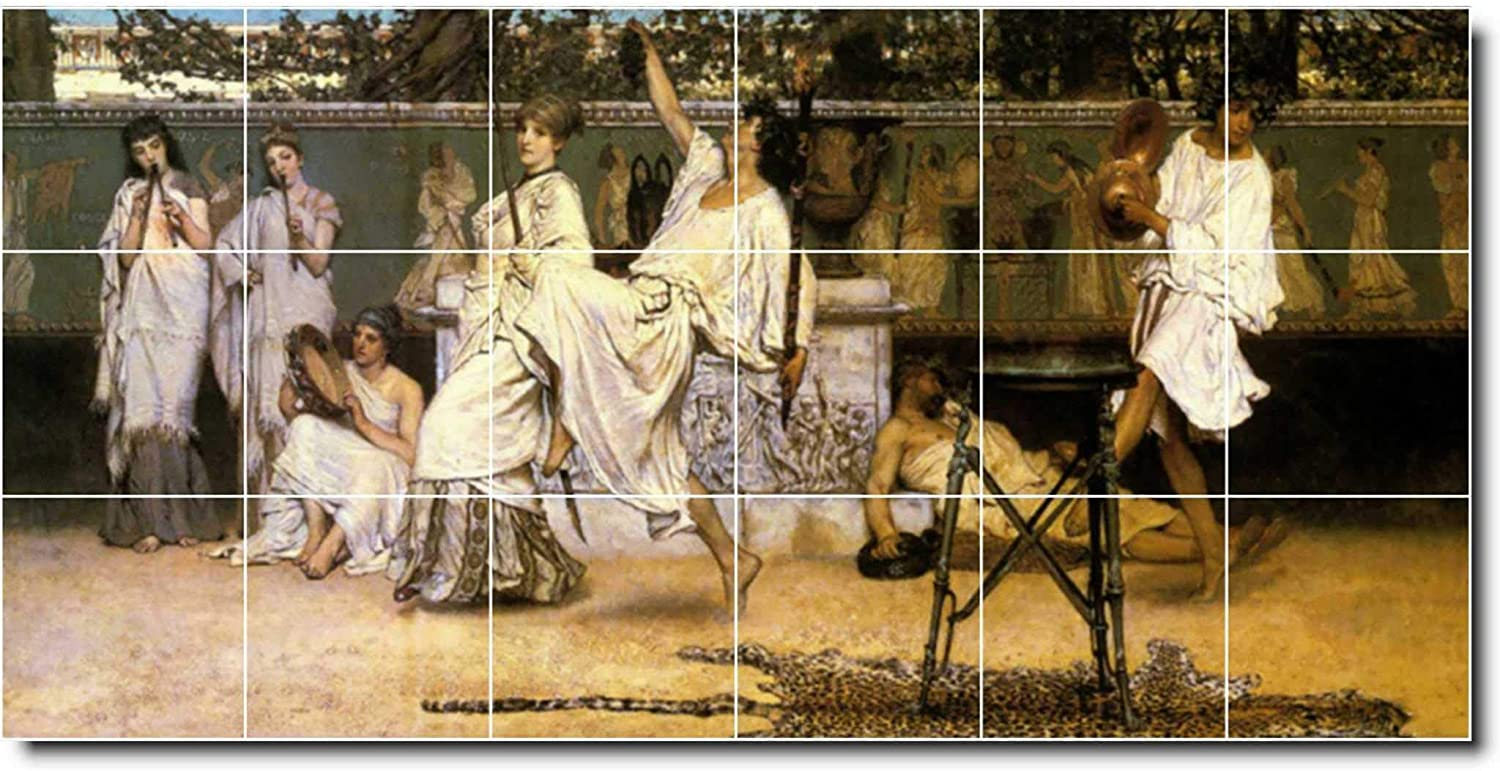 Ceramic Tile Mural Lawrence Alma Tadema Historical Painting 80 48 W X 24 H 18 8x8 Tiles