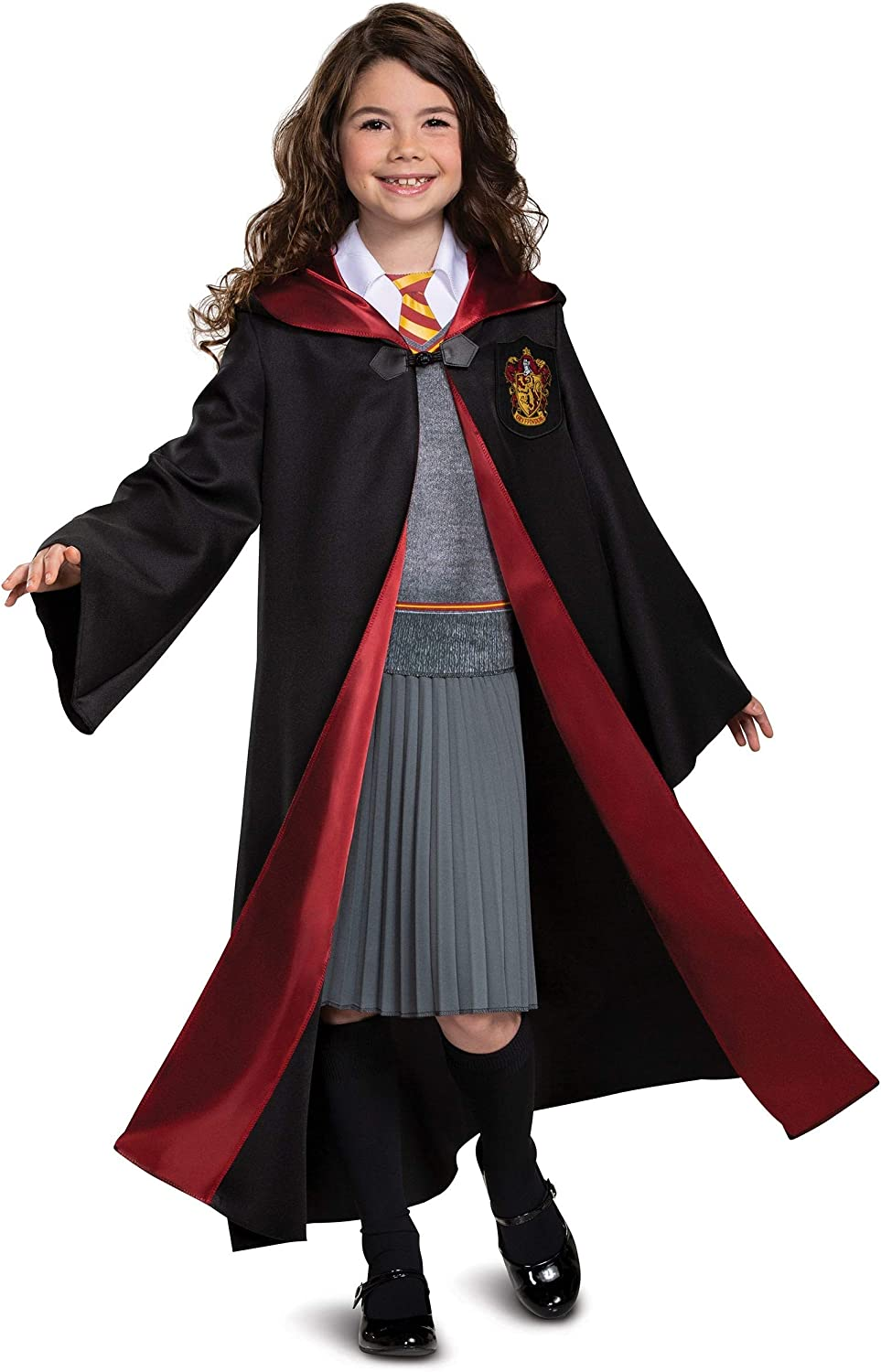 Size 12 Girls Halloween Costumes.Dress Up Pretend Play Disguise Harry Potter Hermione Granger Deluxe Girls Costume Black Red 10 12 Kids Size Large Toys Games