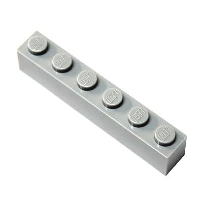 LEGO Parts and Pieces: Light Gray (Medium Stone Grey) 1x6 Brick x20: Toys & Games