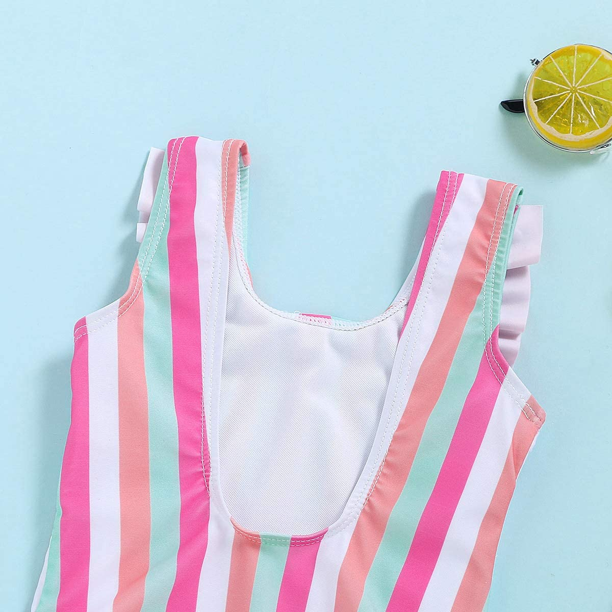Happy Town One-Piece Infant Toddler Baby Girl Summer Swimsuit Watermelon Leopard Ruffle Swimwear Bikini Bathing Suit