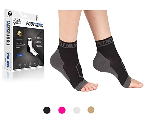 b0dc9cb1f4 Plantar Fasciitis Compression Socks Sleeves Foot Arch Support Open Toe Pain  Relief Ankle Sole: Amazon.co.uk: Health & Personal Care