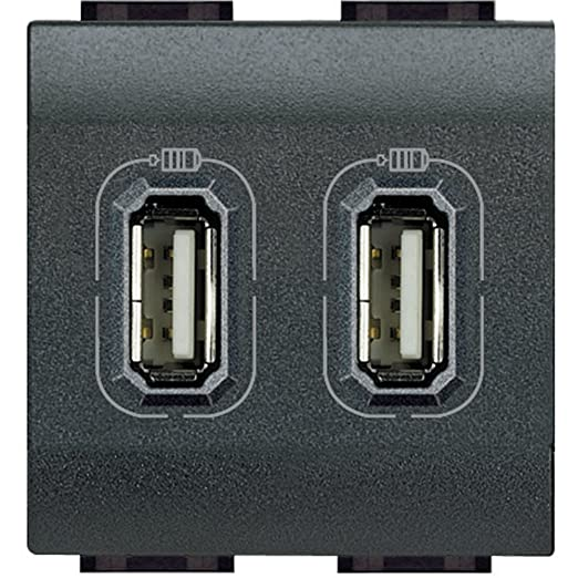 86 opinioni per BTicino Living International L4285C2 Presa Caricatore USB, 2 Posti
