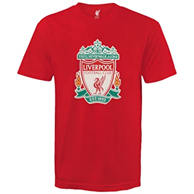 f65c3111a Liverpool Football Club Official Soccer Gift Kids Crest T-Shirt Navy 6-7  Years