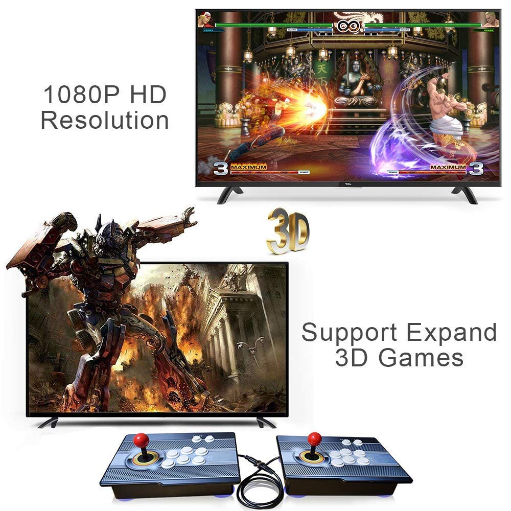 PinPle Arcade Game Console 1080P 3D & 2D Games 2020 in 1 Pandora's Box Kit Classic Arcade Game Machine 2 Players Arcade Machine Arcade Joystick Support Expand 6000+ Games for King of Fighters by PinPle (Image #5)