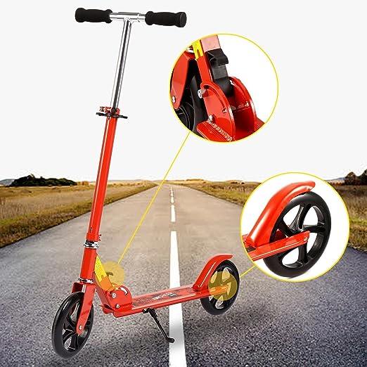 Lonlier Patinete Scooter Plegable 2 Ruedas Altura Ajustable para Adultos y Niños