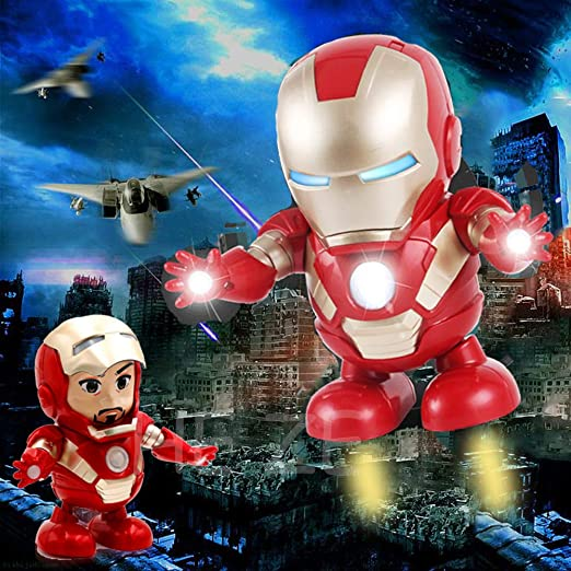 Marvel Avengers 4 DJ Hero Iron Man Figures With Music Light Robots Kids Toy Gift