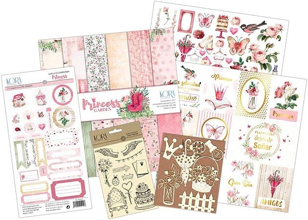KORA projects Kit Scrapbooking - Princess Garden (Tarjetas en ...