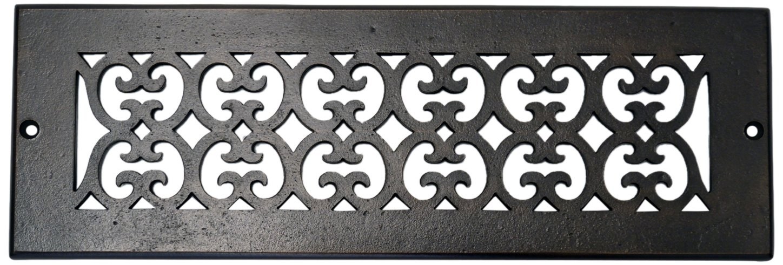 Hamilton Sinkler RVT-312-BP Hamilton Sinkler Scroll Ceiling/Floor/Wall Vent, 3 by 12-Inch, Bronze Patina