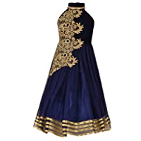 Aarika Girl's Designer Party Wear Gown with Halter Neck
