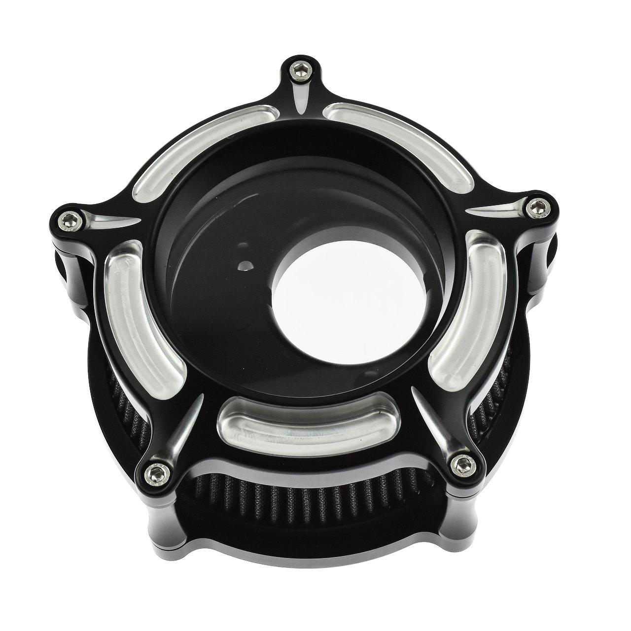 Rebacker CNC Perspective Air Filter Air Intake Cleaner Intake Kit for Harley Dyna Touring 2000-2017 Softail 2000-2015