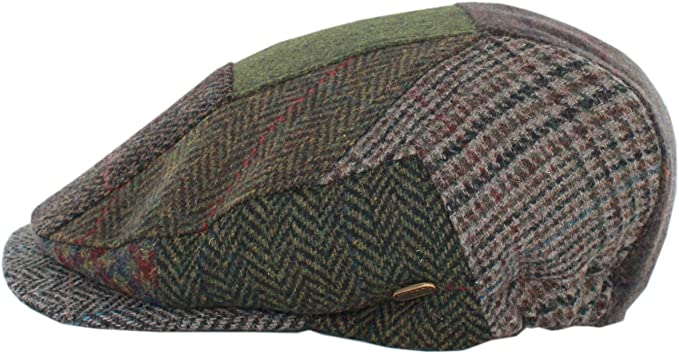 Mucros Weavers Mens Irish Kerry Flat Cap 100/% Wool Made in Ireland with Elastic in The Back