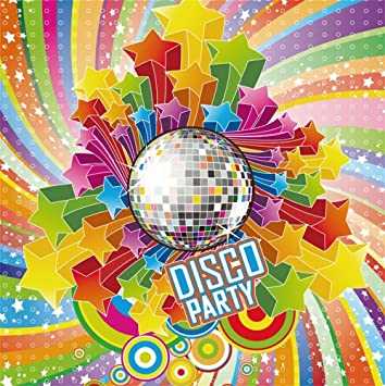 Amazon Com Laeacco Disco Party Backdrop 10x10ft Vinyl Photography Background Colorful Radial Stripes Stars Mirror Ball Design Safari Party Child Baby Adult Shoot Poster Dance All Night Carnival Theme Banner Camera